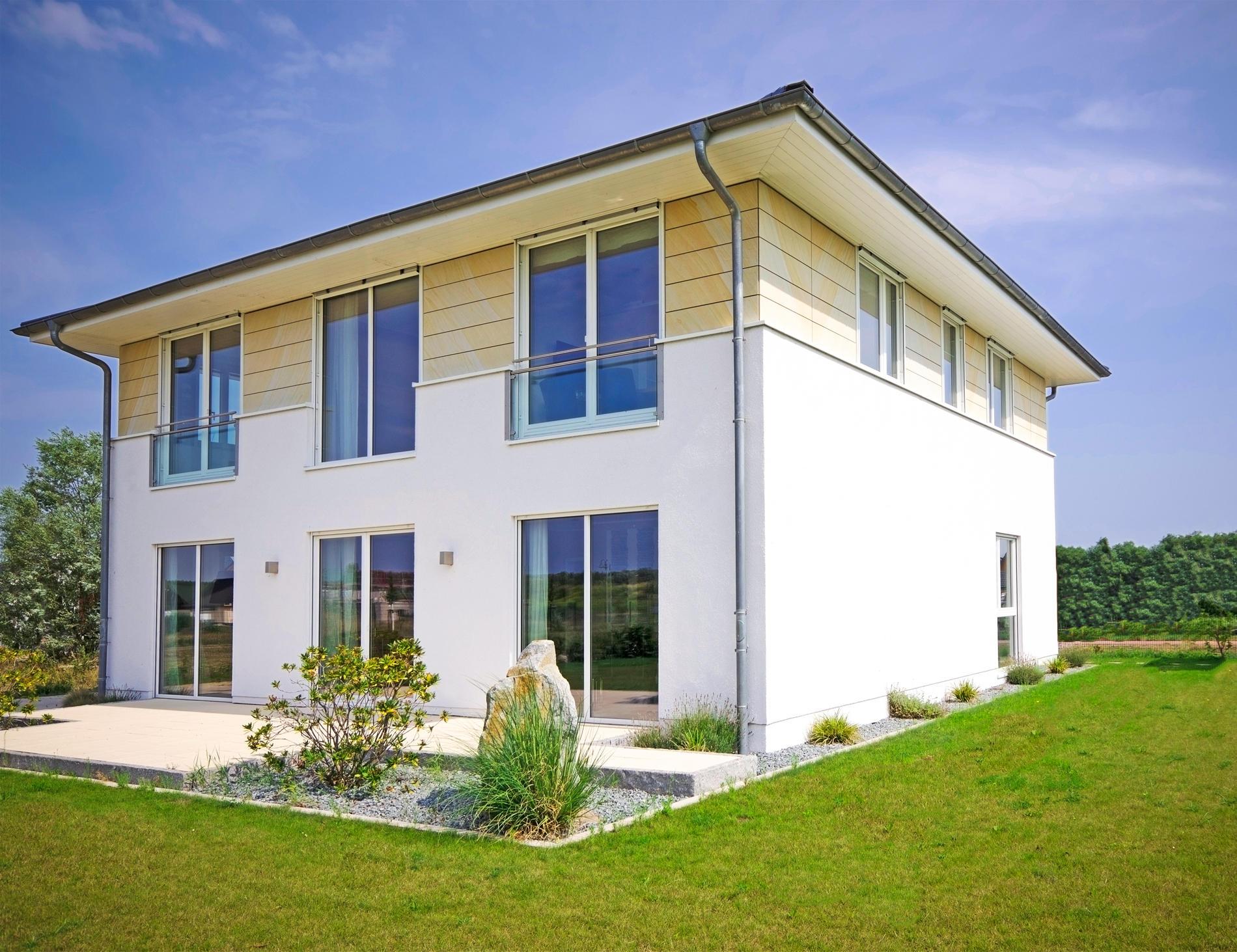 Grundriss stadtvilla 200 qm  Stadtvilla 198 - Stadtvilla Grundriss modern mit knapp 200 qm