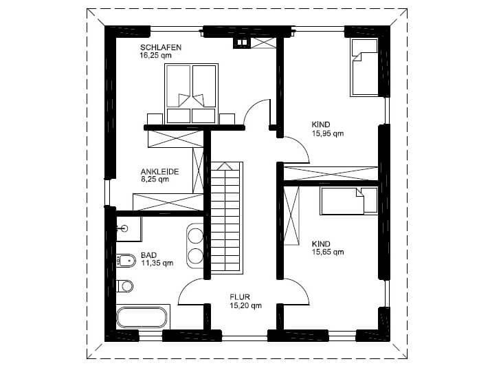 Stadtvilla modern grundriss  Stadtvilla 166 - Stadtvilla Grundriss modern mit 160 qm